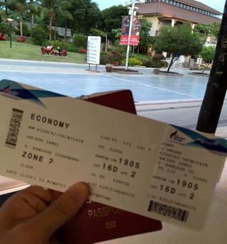 サムイ島からバンコク・ジャカルタへ --バンコク・エアウェイズ「PG 172」とエアアジア「QZ 251」便