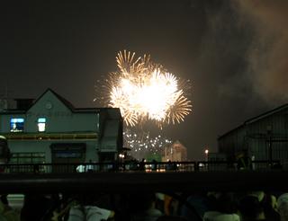 第22回東京湾大華火祭を見る。