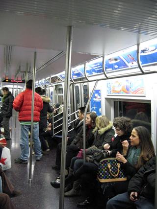 N.Y.の地下鉄