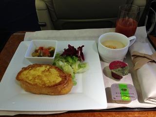 日本航空JALファーストクラスの機内食2012年11月