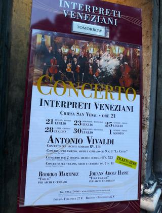 サン・ヴィダル教会「ヴェネツィア室内合奏団」 @イタリア・ヴェネツィア