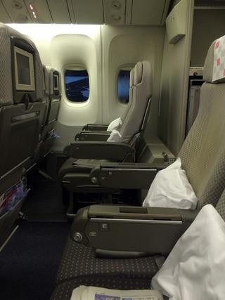 31回目のシンガポール--日本航空「JL035」便