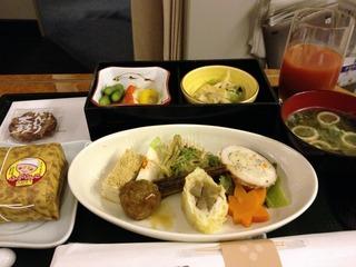 日本航空JALファーストクラスの機内食2012年11月「城崎温泉 西村屋本館」の夕食
