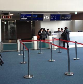 2回目のロンドン--日本航空「JL401」便