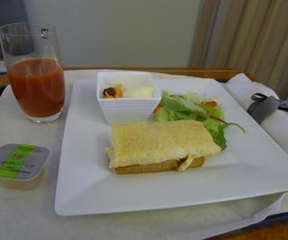 日本航空JALファーストクラスの機内食2012年5月