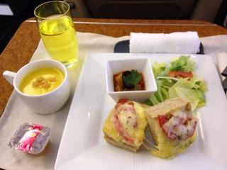 日本航空JALファーストクラスの機内食2012年7月