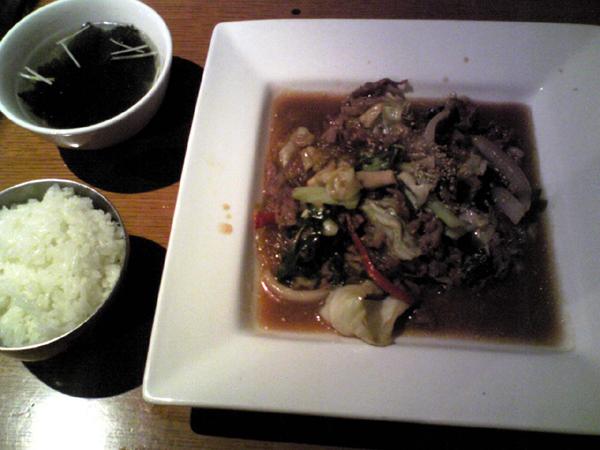 韓国料理「ワンス」でプルコギを食す!