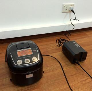 シンガポールで日本の家電を使えるようにしてみた。