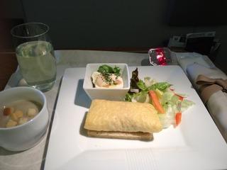 日本航空JALファーストクラスの機内食2012年10月