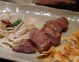広島牛の鉄板焼きの老舗「味味亭」 @広島