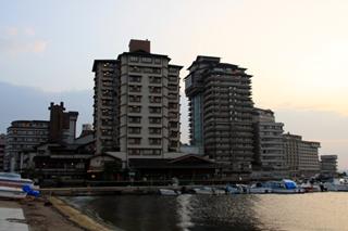 石川県 能登半島 和倉温泉の加賀屋旅館の周辺風景