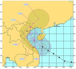 ベトナムの台風30号