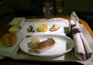 日本航空JALファーストクラスの機内食2012年4月