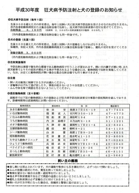 img154 狂犬病予防注射 A