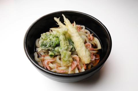 春の旬野菜三種盛り天ぷらうどん(加工)