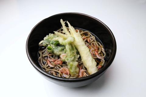 春の旬野菜三種盛り天ぷらそば(加工)