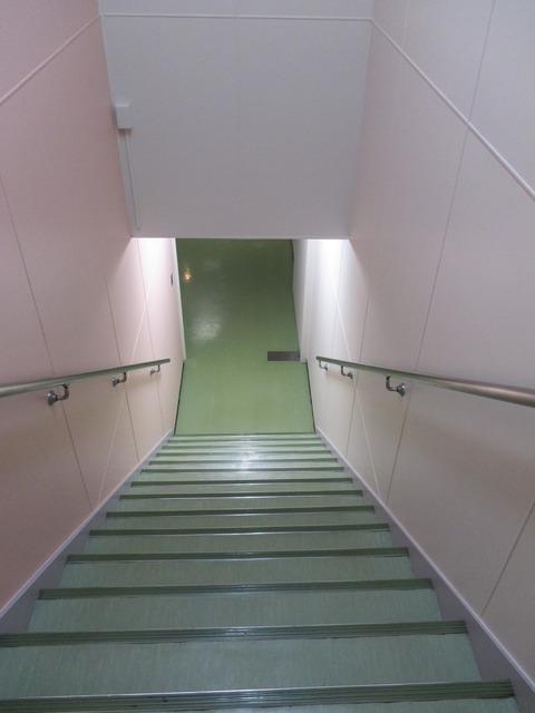 中2階階段下り