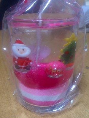 クリスマスのジェルキャンドル