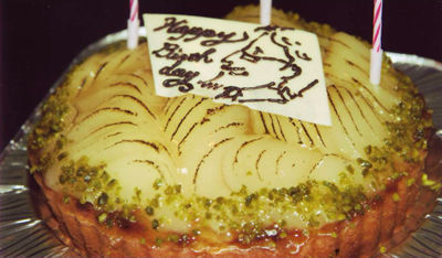 似顔絵入りケーキ