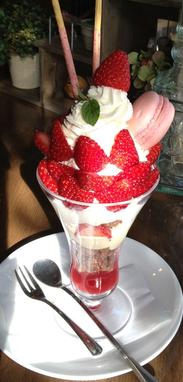 ブログ写真(苺パフェ)4月20日