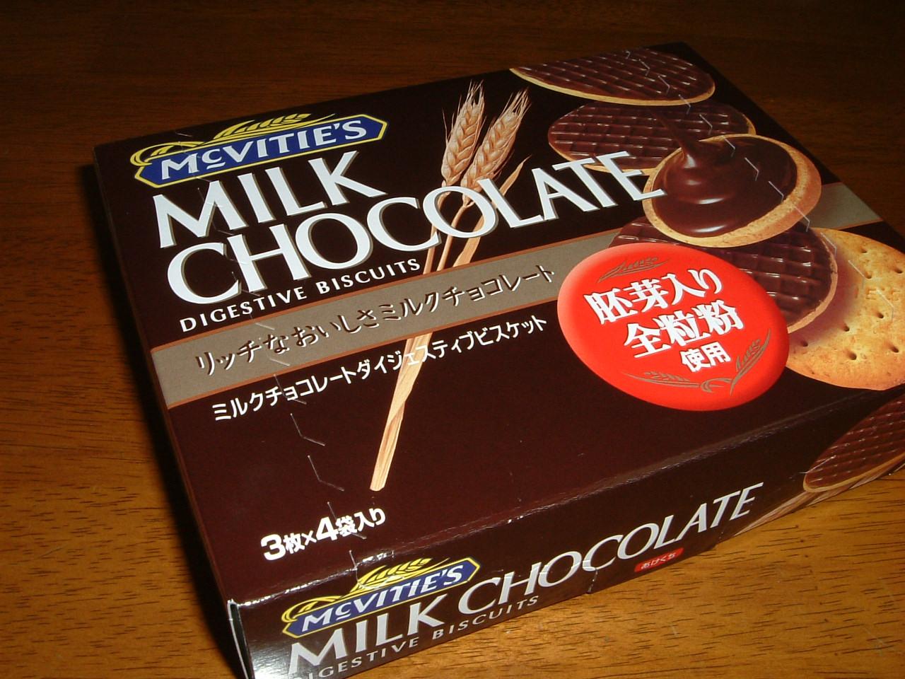 ミルクチョコレートダイジェスティブビスケット箱