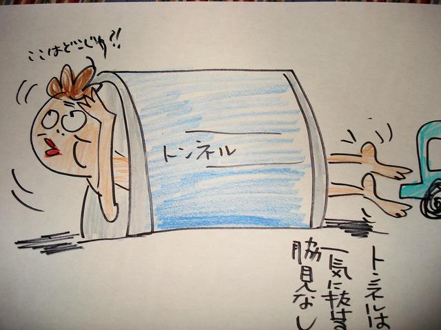 トンネルは 一気に抜ける 脇見なし (2)