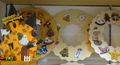トールペイントのハロウィン飾り、手描きのトートバッグ「第3回手作りクラフト展」出品作品