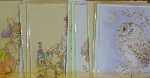 「第4回手作りクラフト展」の出品作品. ポストカード
