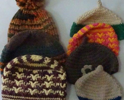 手編みのニット帽「第3回手作りクラフト展」