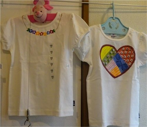 M's roomの長谷川昌子さんのトールペイントのハロウィン飾り、トートバッグ、子供用の上履き、子供服