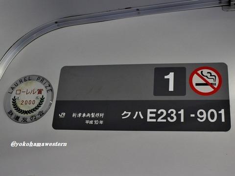 クハE231-901プレート1