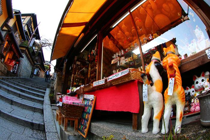 京都・東山区・【魚眼風景】八坂神社~産寧坂界隈20150221-2
