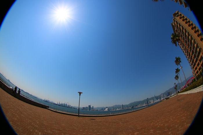 兵庫・中央区・【魚眼風景】ポーアイしおさい公園20150427-1