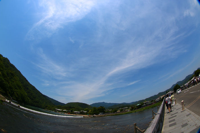 京都・右京区・【魚眼風景】渡月橋界隈20150527-2