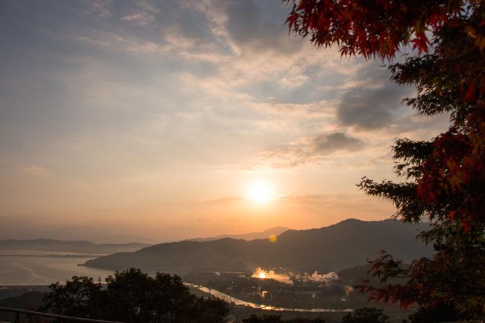 京都・与謝郡与謝野町・大内峠一字観公園(朝景・紅葉)20161112-2