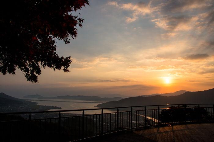 京都・与謝郡与謝野町・大内峠一字観公園(朝景・紅葉)20161112-1