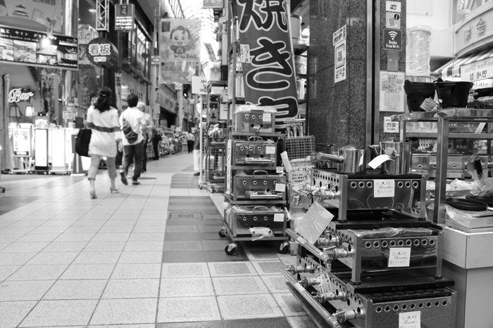 大阪・中央区・【モノクロさんぽ】千日前道具屋筋商店街20150623-4