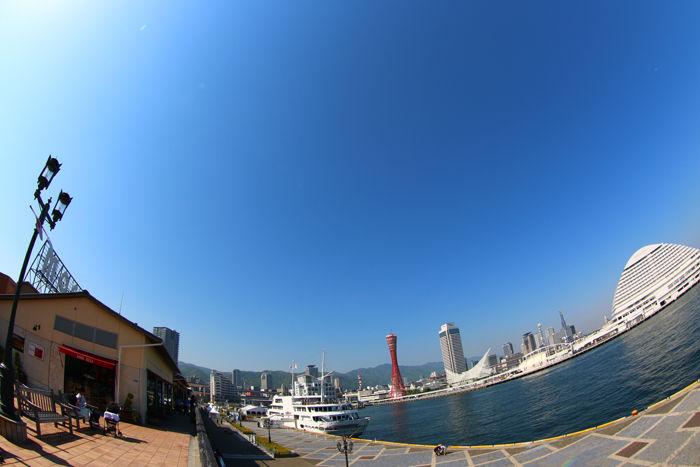 兵庫・神戸市・【魚眼風景】umieMOSAIC20150427-3