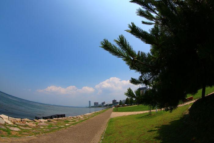 滋賀・大津市・【魚眼風景】大津湖岸なぎさ公園20150731-2