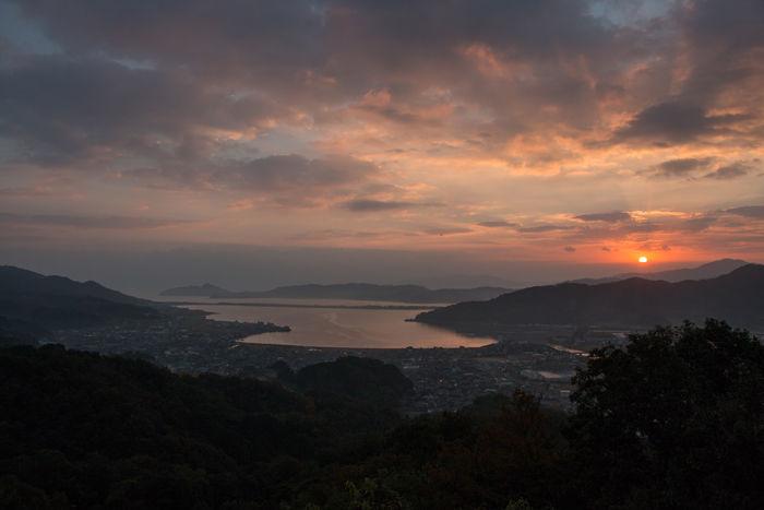 京都・与謝郡与謝野町・大内峠一字観公園(朝景・夜明け)20161112-9