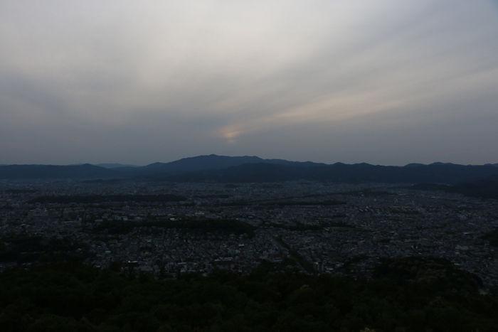 京都・左京区・大文字山(夕景)20160505-4