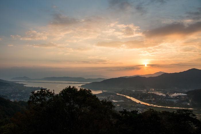 京都・与謝郡与謝野町・大内峠一字観公園(朝景・夜明け)20161112-12