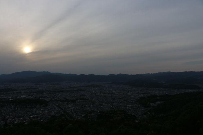 京都・左京区・大文字山(夕景)20160505-2