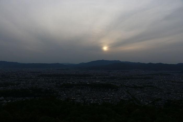 京都・左京区・大文字山(夕景)20160505-3