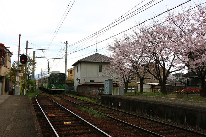 京都・右京区・嵐電北野線龍安寺駅20160402-1