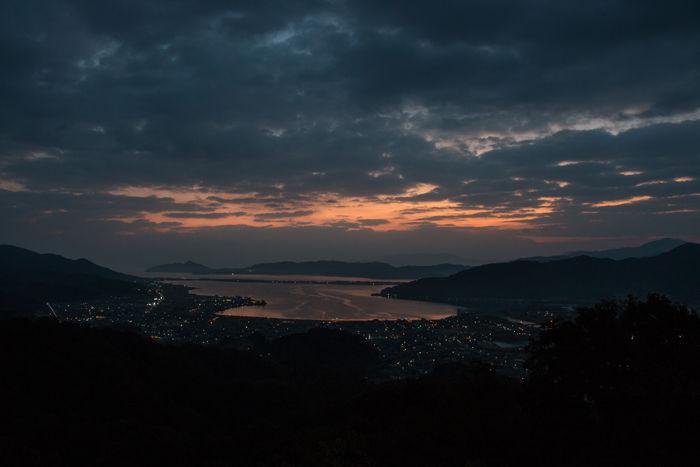 京都・与謝郡与謝野町・大内峠一字観公園(朝景・夜明け)20161112-4