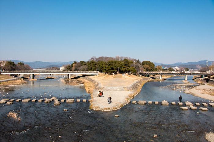 京都・左京区~上京区・賀茂大橋20170216-1