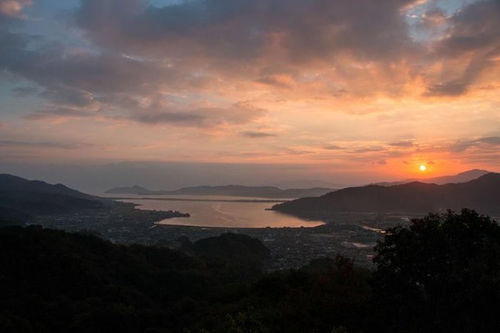 京都・与謝郡与謝野町・大内峠一字観公園(朝景・夜明け)20161112-10