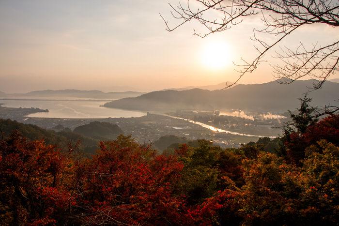 京都・与謝郡与謝野町・大内峠一字観公園(朝景・紅葉)20161112-3