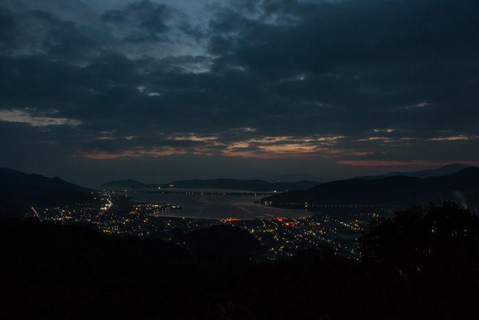 京都・与謝郡与謝野町・大内峠一字観公園(朝景・夜明け)20161112-3